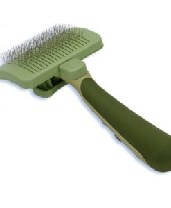 Safari-Self-Cleaning-Slicker-Brush-for-Cats-Green-0