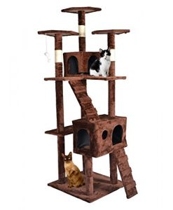 BestPet-CT9073-Cat-Tree-Condo-Furniture-Surface-Material-Faux-Fur-73-Inch-Brown-0