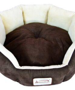 Armarkat C01HKF/MH Cozy Pet Bed 20-Inch Diameter, Mocha Beige 1