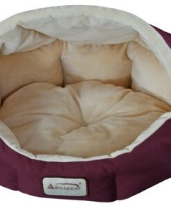 Armarkat Cat Bed 18-Inch Long C08HJH/MH, Burgundy and Beige 2