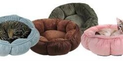"""Aspen Pet Puffy Round Cat Bed (18"""") Assorted Colors 5"""