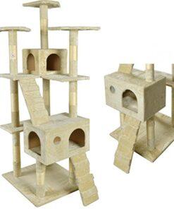 BestPet CT-9073 Cat Tree Scratcher Play House Condo Furniture Toy, 73-Inch, Beige 18
