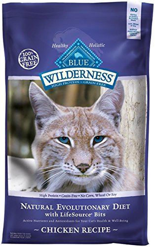 Blue Buffalo Wilderness High Protein Grain Free, Natural Adult Dry Cat Food, Chicken 12-lb 1