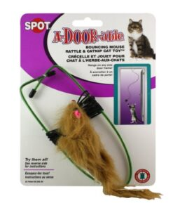 Ethical A-Door-Able Bouncing Mouse Cat Toy , Assorted Colors 9