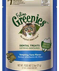 FELINE GREENIES Dental Treats for Cats Tempting Tuna Flavor 2.5 oz. 5