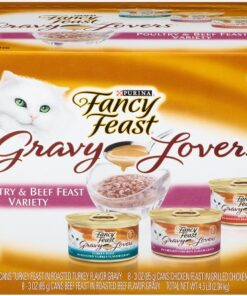 Purina Fancy Feast Gravy Lovers Poultry & Beef Feast Collection Wet Cat Food Variety Pack - (24) 3 oz. Cans 13