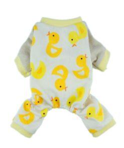 Fitwarm Duck Dog Pajamas Dog Clothes Dog Jumpsuit Pet Cat Pjs, Small 5