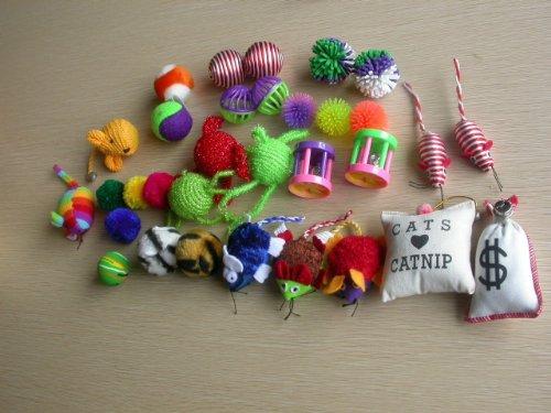 HDP Grab bag assorted 20 pieces cat toys bag 1