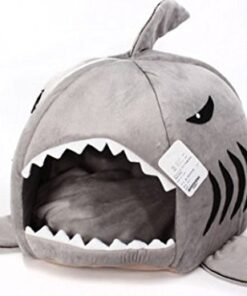 Grey Shark Bed for Small Cat Dog Cave Bed Removable Cushion,waterproof Bottom Most Lovely Pet House Gift for Pet 8