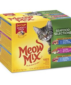 Meow Mix Seafood Selections Variety Pack Wet Cat Food, 2.75-Ounce (pack of 24) 11