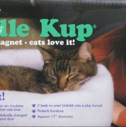 K. T. Manufacturing Mysterious Kuddle Kup Cat Bed, Charcoal 9