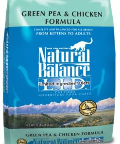 Natural Balance L.I.D. Limited Ingredient Diets Dry Cat Food, Grain Free, Green Pea & Chicken Formula, 10-Pound 9