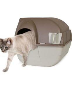 Omega Paw Self-Cleaning Litter Box, Regular, Taupe 9