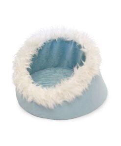 PETMAKER Feline Cat Comfort Cavern Pet Bed, Blue 9