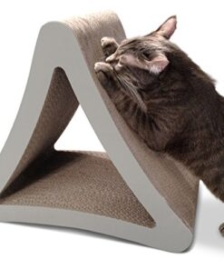 PetFusion 3-Sided Vertical Cat Scratching Post (Standard Size, Warm Gray). [Multiple Scratching Angles to match your cat's preference] 13