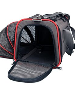"""Petsfit 18""""x11""""x11"""" Expandable Foldable Washable Travel Carrier, Not All Airline-Approved Pet Carrier Soft-sided 12"""