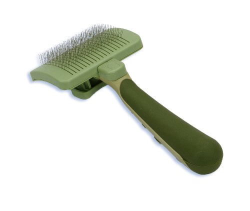 SAFARI Cat Self-Cleaning Slicker Brush, One Size, Cat Brush, Cat Brush for Shedding, Cat Hair Brush, Cat Brushes for Grooming, Stainless Steel, Comfort Grip Handle 1
