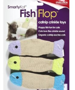 SmartyKat Fish Flop Cat Toy Catnip Crinkle Toys, 3 Toys per package 12