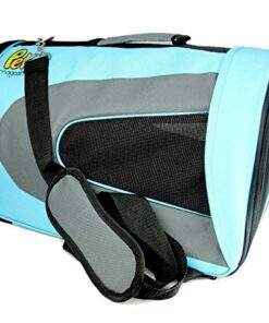 Pet Magasin Soft-Sided Pet Travel Carrier (Airline Approved) for Cats, Small Dogs, Puppies and Other Pets by (Large, Blue) 8