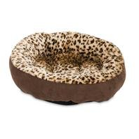 Aspen Pet Round Animal Print Pet Bed for Small Dogs and Cats 18-inch by 18-inch 6