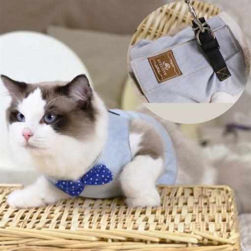 Cat's Elegant Shirt Harness And Leash 1