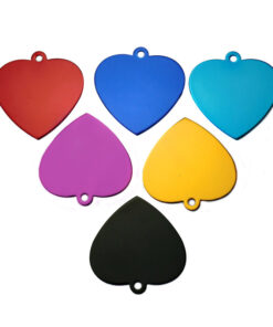 Set Aluminum ID Tags in Shape Love Heart for Cat 18