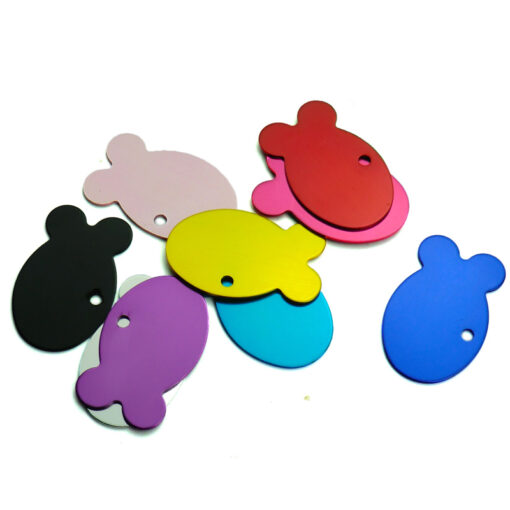 Set Aluminum ID Tags in Shape Fish for Cat 1